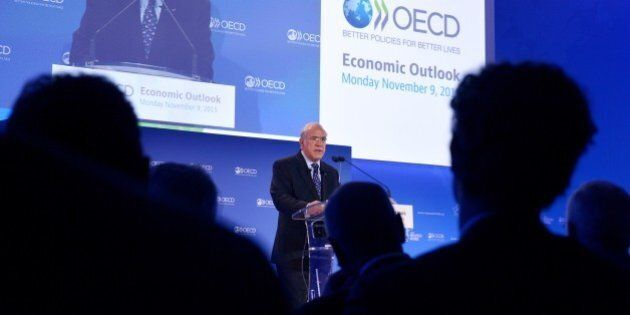 Organisation for Economic Co-operation and Development (OECD) Mexican Secretary General Angel Gurria...