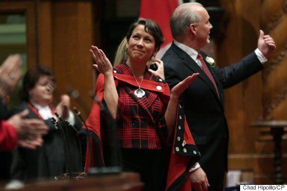 Melanie Mark, B.C.'s First Female Aboriginal MLA, Tears Up During Swearing-In