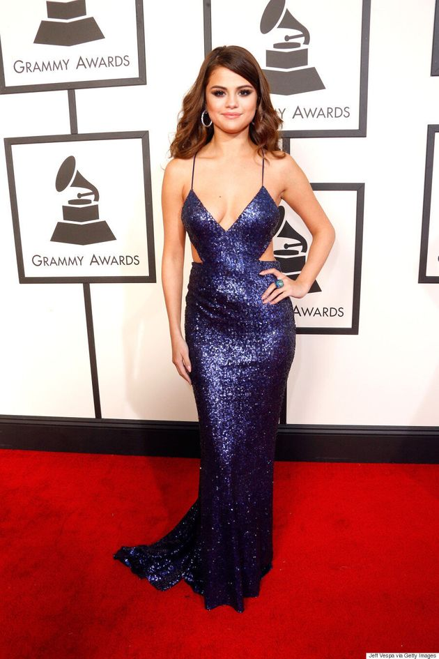 Selena Gomez Grammys 2016: Pop Star Sizzles In Sequin And