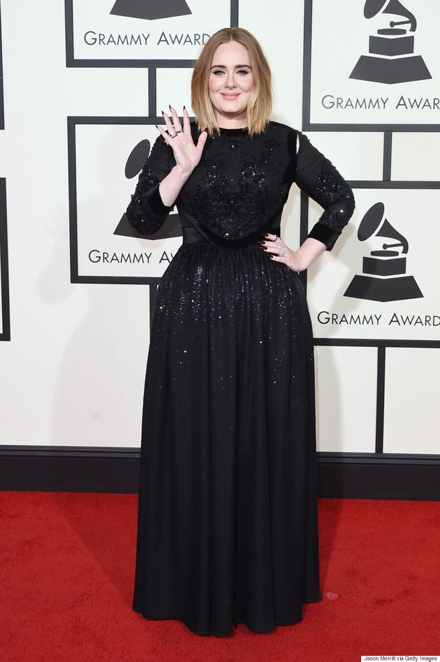 Adele Grammys 2016: Songstress Shines In Sequined Givenchy On Red