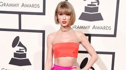 Taylor Swift Bares Her Abs On The Grammys Red