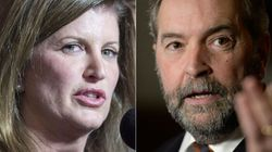 Ambrose, Mulcair Highlight The Words Left