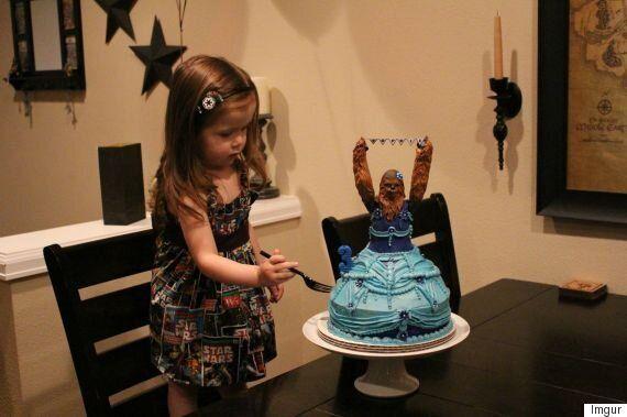 Chewbacca Birthday Cake Wins Three-Year-Old's Birthday