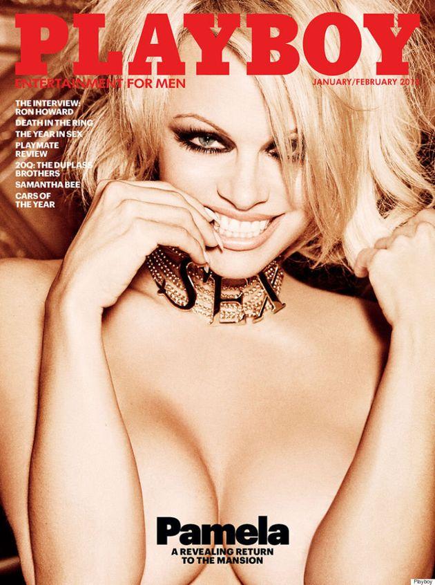 Pamela Anderson Covers Playboy's Last Nude