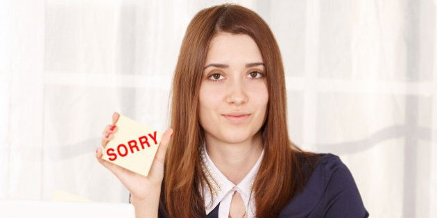sorry. a woman employee at work ...