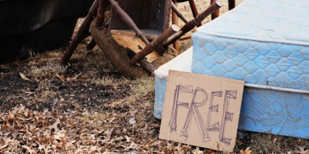Mattress and chairs free on curb