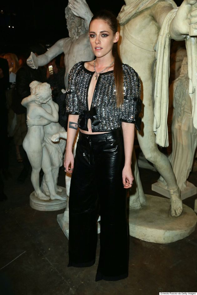 Kristen Stewart Is Badass In Leather And Tweed At Chanel's Metiers d'Art