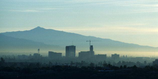 Temperature inversion (smog) over Tucson,
