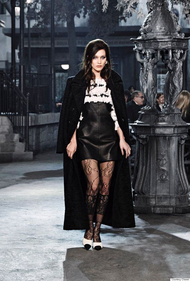 Bella Hadid Makes Her Chanel Debut At The Metiers d'Art Show In