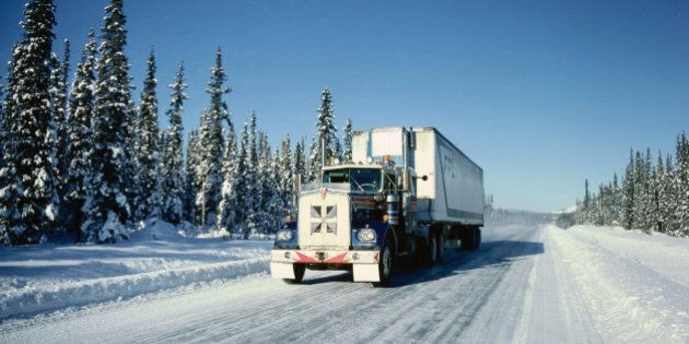 Transport Truck, Dempster Highway, Yukon,