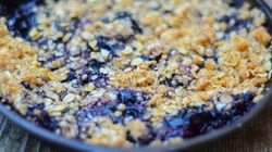 Campfire Blueberry Cobbler