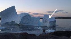 Newfoundlander Catches Moment Huge Iceberg Breaks Near