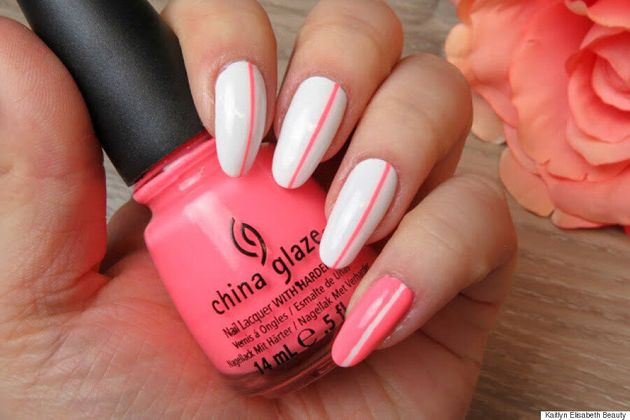 Nail Art: A Simple Neon Design That's Perfect For