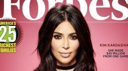 Kim Kardashian Flaunts Forbes Cover And Silences