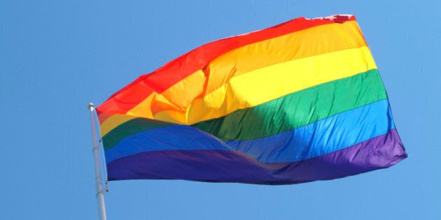 USA, California, San Francisco, rainbow flag (gay pride