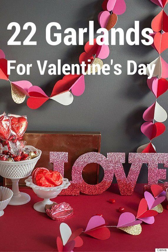 22 Cute And Classy DIY Valentine's Day Garland