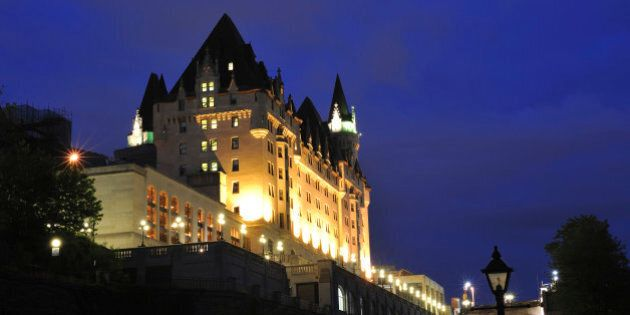 'Fairmont Chateau Laurier at night, Ottawa,