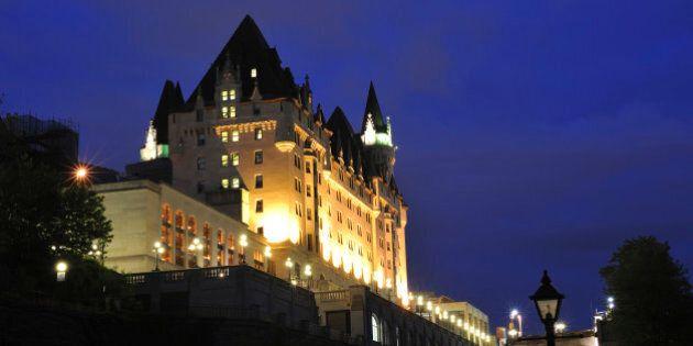 'Fairmont Chateau Laurier at night, Ottawa, Canada'