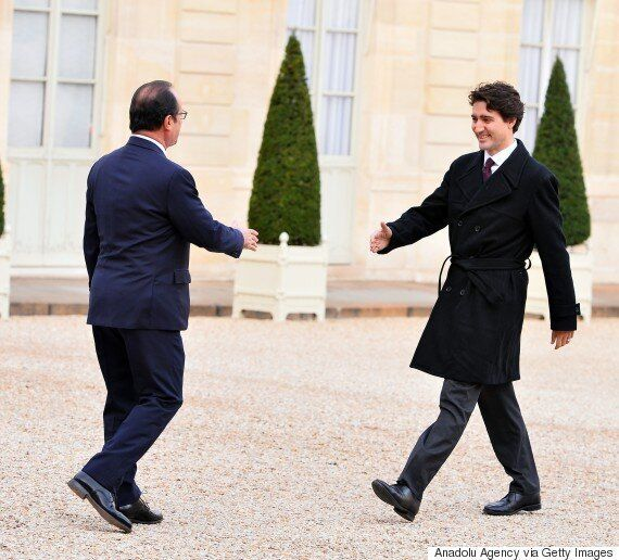 Justin Trudeau Meets Francois Hollande, French President Appears OK With Canada's ISIS Fighter Jet