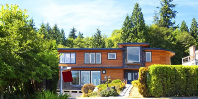 Contemporary luxury home for sale in West Vancouver.