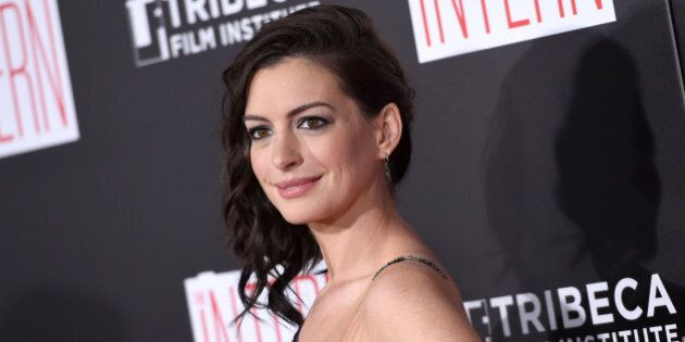 Anne Hathaway attends the premiere
