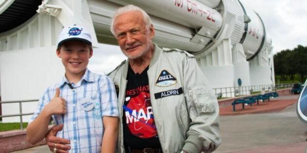 Alberta Boy Meets Buzz Aldrin Through Make-A-Wish
