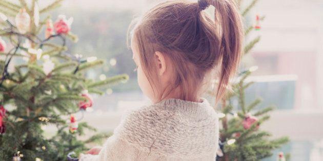 Girl decorating Christmas