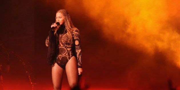 LOS ANGELES, CA - JUNE 26:  Singer Beyonce performs onstage during the 2016 BET Awards at the Microsoft Theater on June 26, 2016 in Los Angeles, California.  (Photo by Paras Griffin/BET/Getty Images for BET)