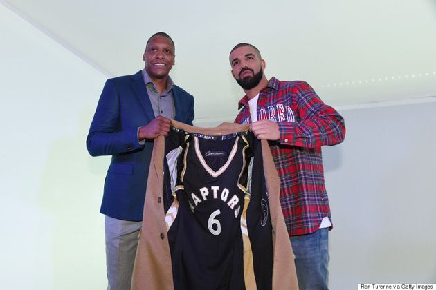 Drake Receives Custom Raptors Jacket During Drake