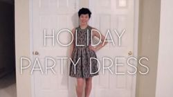 A One Of A Kind Holiday Party Dress You Can Make
