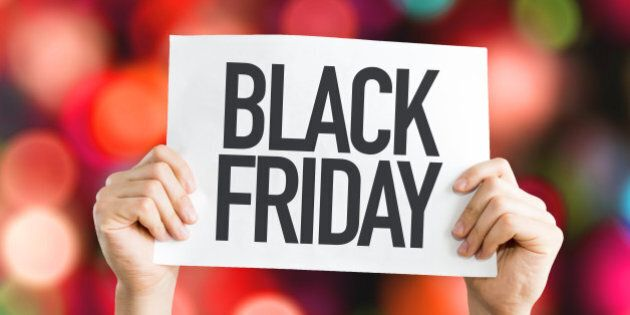 black friday placard with
