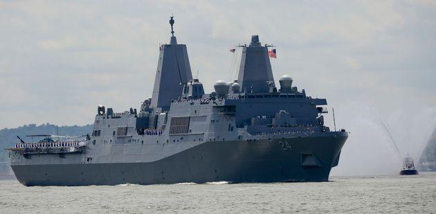Le navire de guerre USS Arlington,