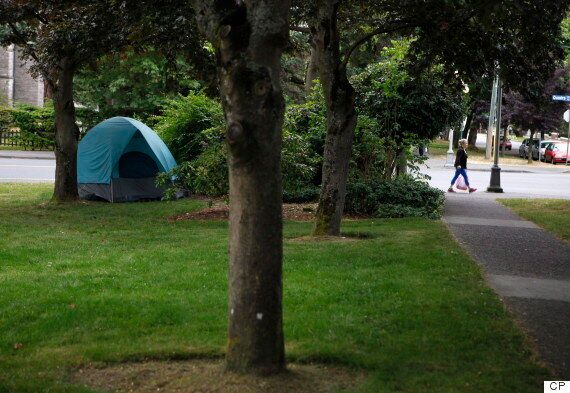 Neighbours Fed Up With Tent City On Lawn Of Victoria