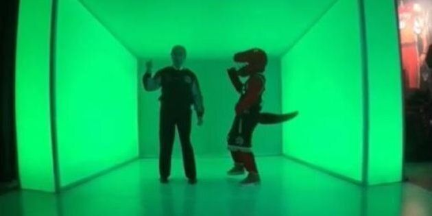 Watch Norm Kelly And The Raptor Dance To Drake's 'Hotline Bling' In