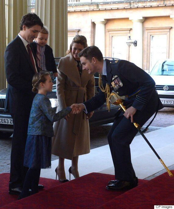 Sophie Trudeau Wears Canadian To Meet The Queen