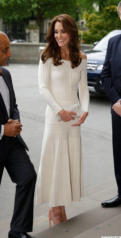 Kate Middleton Wears Off-The-Shoulder Barbara Casasola Dress To London's Natural History