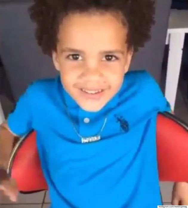 Makeup Artist Magali Beauvue Transforms 5-Year-Old Boy Into A Mini-Drake And It's Mind