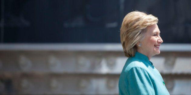 ATLANTIC CITY, NJ - JULY 6: Presumptive Democratic presidential nominee Hillary Clinton speaks at a rally...
