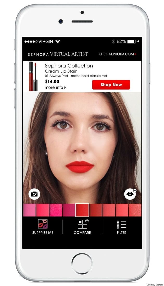 Sephora's Virtual Artist App Will Help You Find The Perfect Lip Colour In