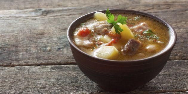 Meat soup witn vegetables