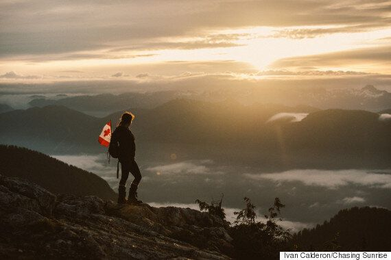 Mount Seymour Sunrise 'O Canada' Is Perfect For Canada