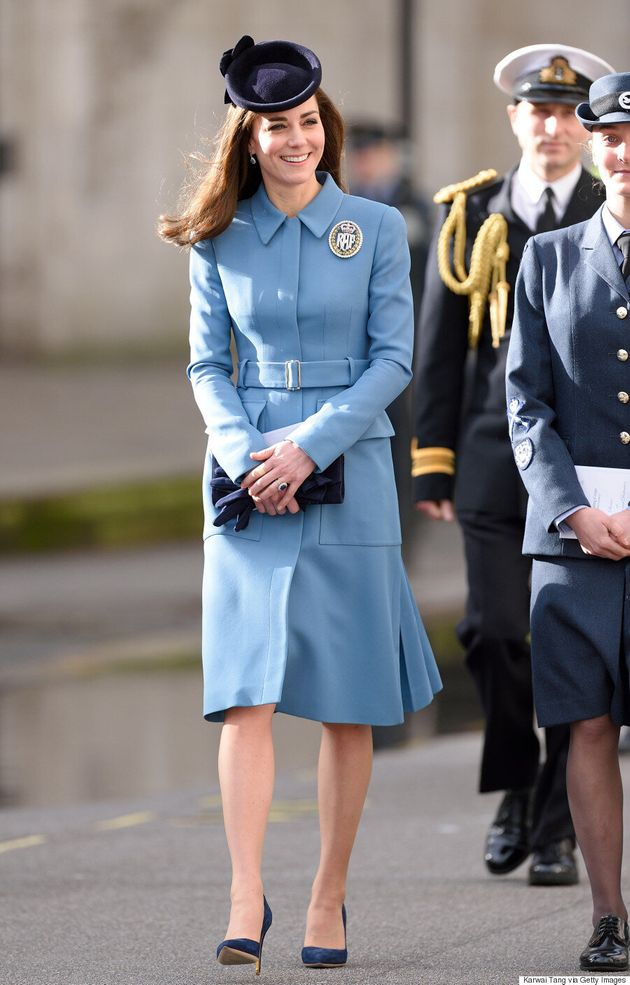 Kate Middleton Recycles Alexander McQueen Coat For 75th Anniversary Of The RAF Air