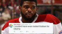 P.K. Subban Trade + Obama's Speech = Canadian