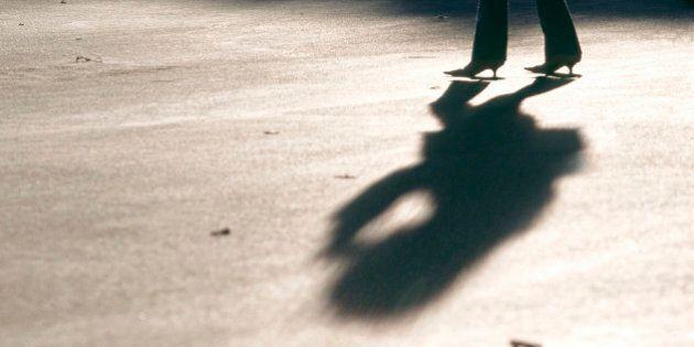 Women legs shadow high-heels high heels
