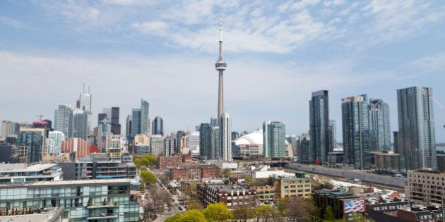 Downtown Toronto, looking