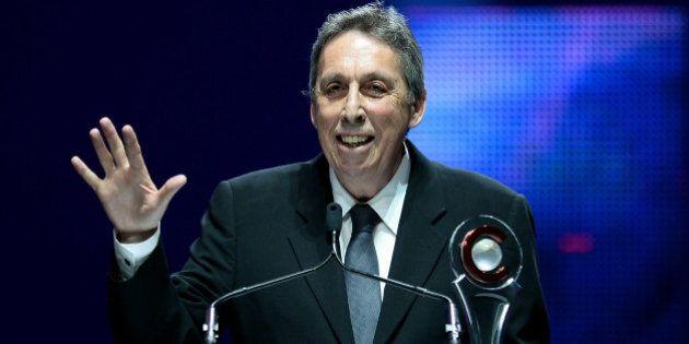 LAS VEGAS, NV - MARCH 27: Lifetime Achievement Award winner Ivan Reitman speaks during at The CinemaCon...