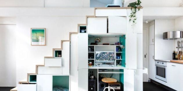 17 Clever Staircases With Storage Built