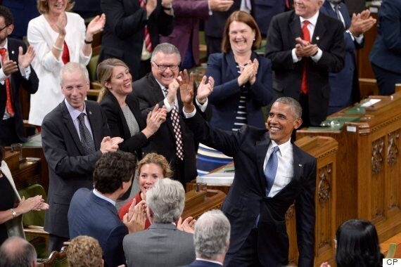 Barack Obama's Speech To Parliament Praises Trudeau, Warns Against Fear-Based