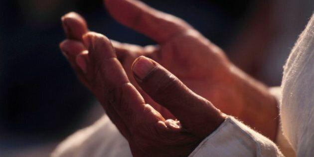 Hands of Islamic Man Praying