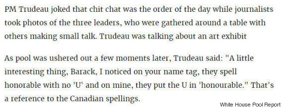 Trudeau's Three Amigos Small Talk With Obama Is Delightfully